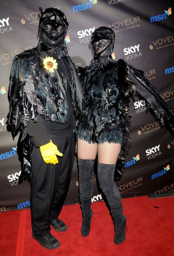 Pin for Later: Over 250 Celebrity Halloween Costumes!  Heidi Klum and Seal were feathered up for their 2009 Halloween bash in LA.