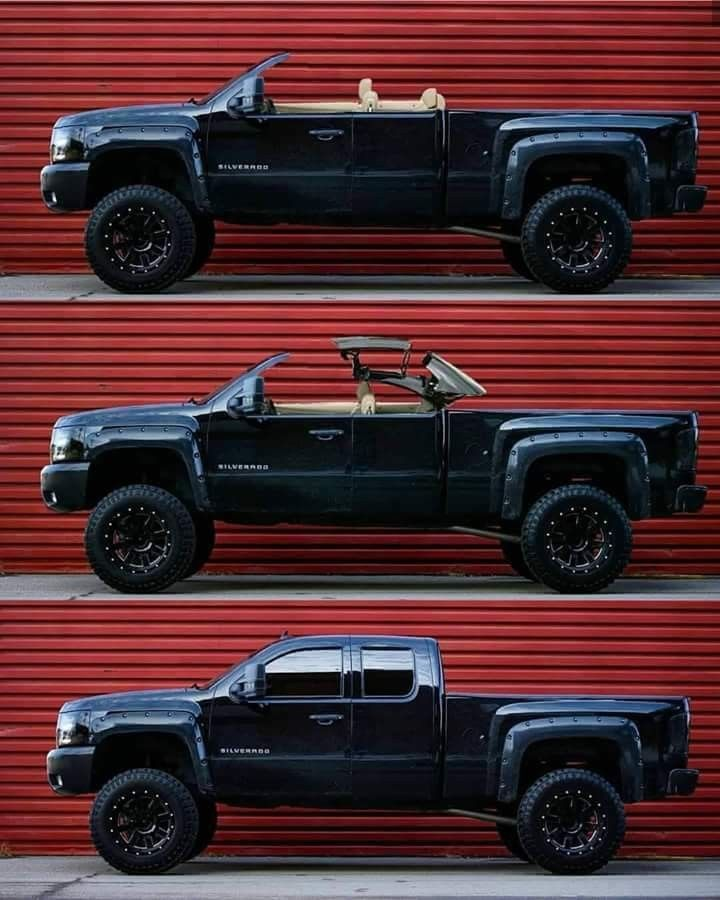 Chevy Silverado With Hardtop Convertible Roof