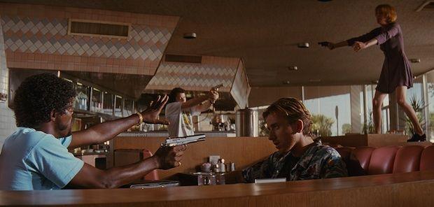 "Pumpkin and Honey Bunny from Quentin Tarantino's ""Pulp Fiction"" (1994)"