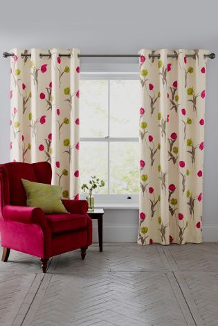 Buy Delicate Stem Tulip Print Eyelet Curtains from the Next UK online shop