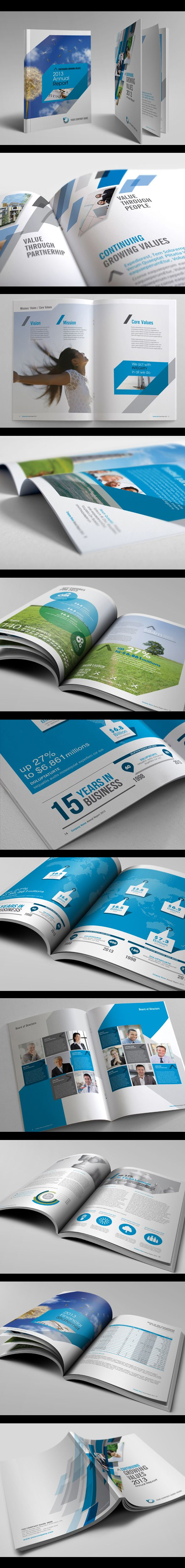 Annual Report Series 1 by Jet Paul, via Behance