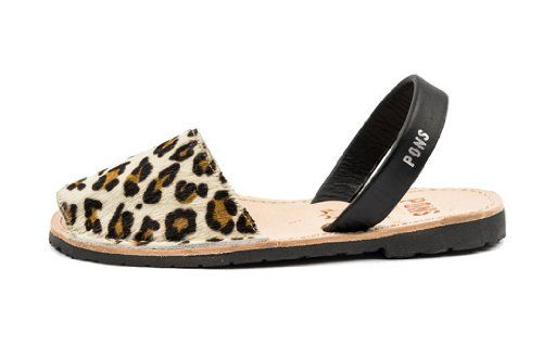 The big cat avarca sandals by Pons #shoes #sandals #animalsprint $87 @Kitty Purring