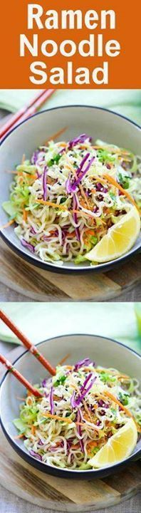 Ramen Noodle Salad  Ramen Noodle Salad  Asian salad made with...  Ramen Noodle Salad  Ramen Noodle Salad  Asian salad made with ramen noodles cabbage and carrots in a tangy and appetizing dressing. So healthy and delicious | rasamalaysia.com Recipe : http://ift.tt/1hGiZgA And @ItsNutella  http://ift.tt/2v8iUYW
