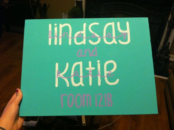 12x16 Dorm Room Name Sign