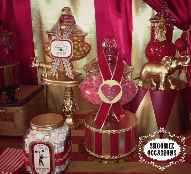 Circus Candy Jars #circus #candyjars
