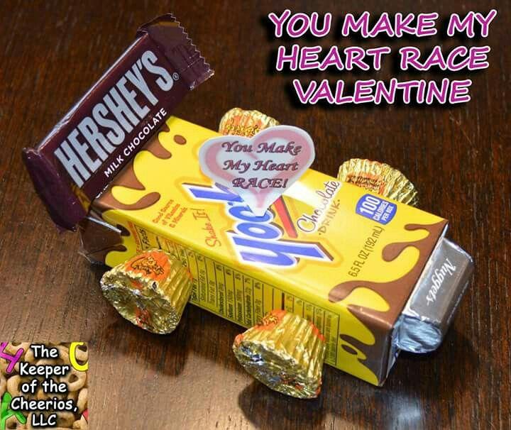Valentine's candy racecar