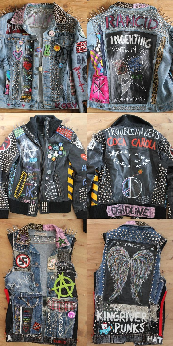 my jackets. everything is diy.