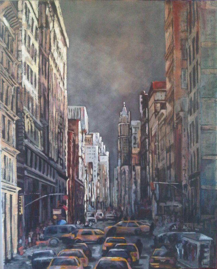 New York - Oil on canvas by Christine Joubert