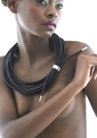 Black Coil Necklace