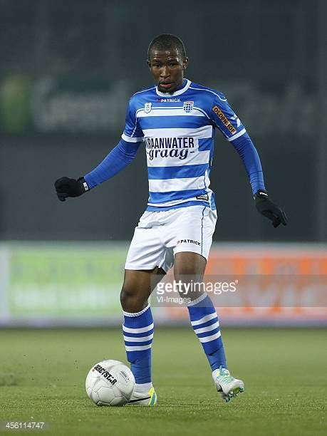 Kamohelo Mokotjo of PEC Zwolle during the Dutch Eredivisie match between PEC Zwolle and sc Heerenveen on December 13 2013 at the IJsseldelta stadium...