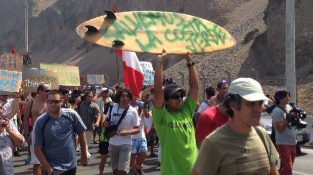 Costa Verde: caminata contra tercer carril bloquea la vía