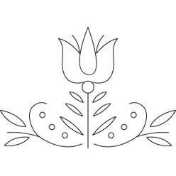 Lots of great needlework patterns -Pennsylvania Dutch Tulip | Needlecrafter