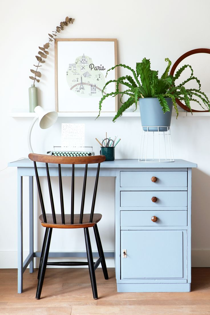MY ATTIC SHOP / vintage desk / workspace / Denim Drift  www.entermyattic.com