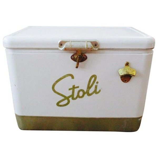 Stoli Vodka Ice Chest ($275) ❤ liked on Polyvore featuring baskets & boxes
