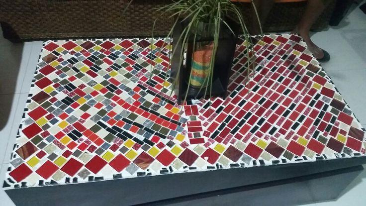 Mosaico mesa madera