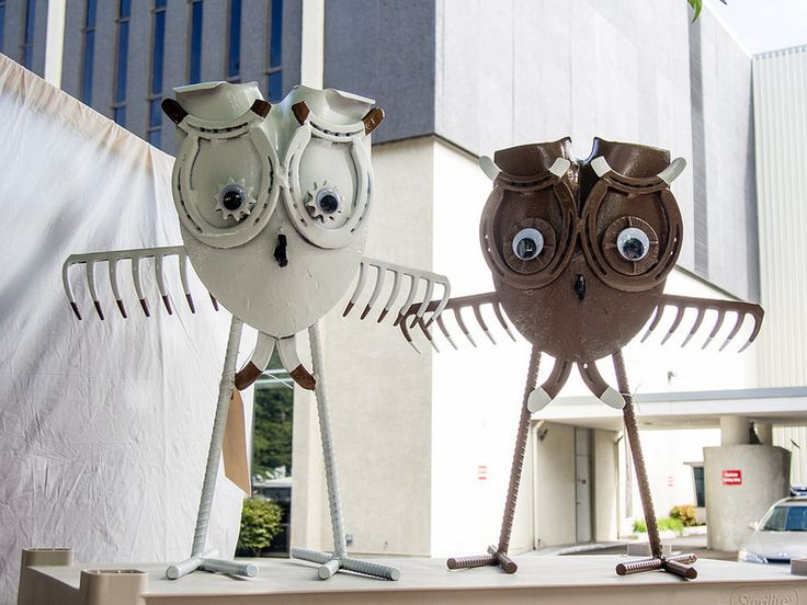Whimsical metal creatures by Tim and Heidi Ranney