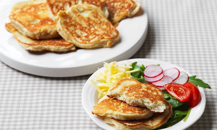 These pancakes are delicious served with scrambled egg, poached egg or with a little butter.