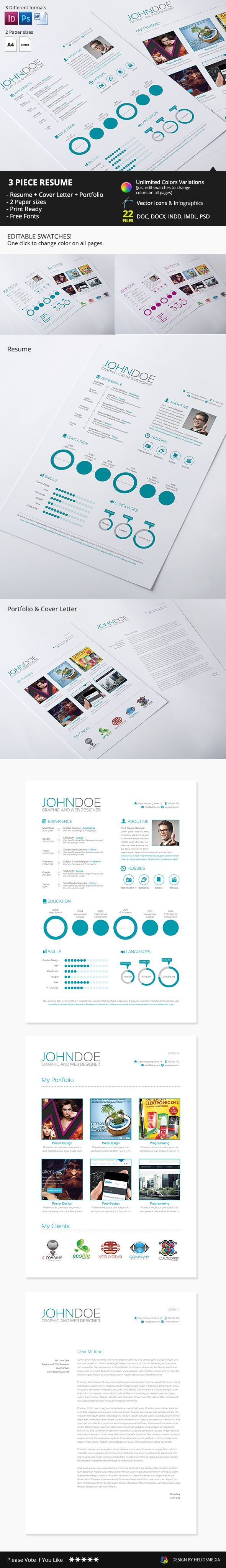 17 best images about resumes infographic resume features 22 files included doc docx indd idml psd cmyk 300 dpi print ready editable swatches fonts resume cover letter simple