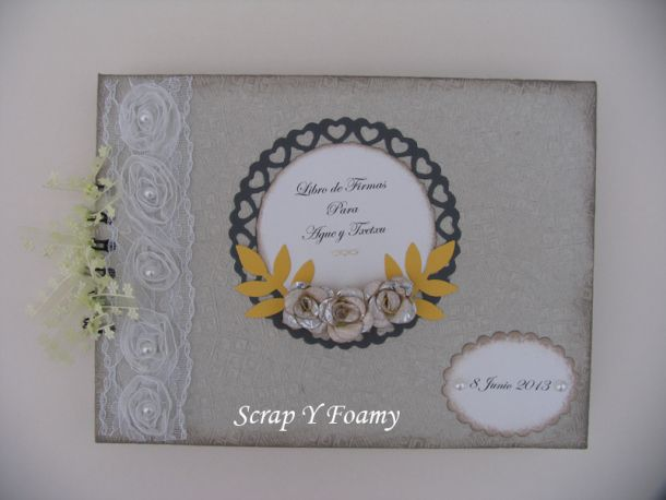 Libro de Firmas en tonos grises