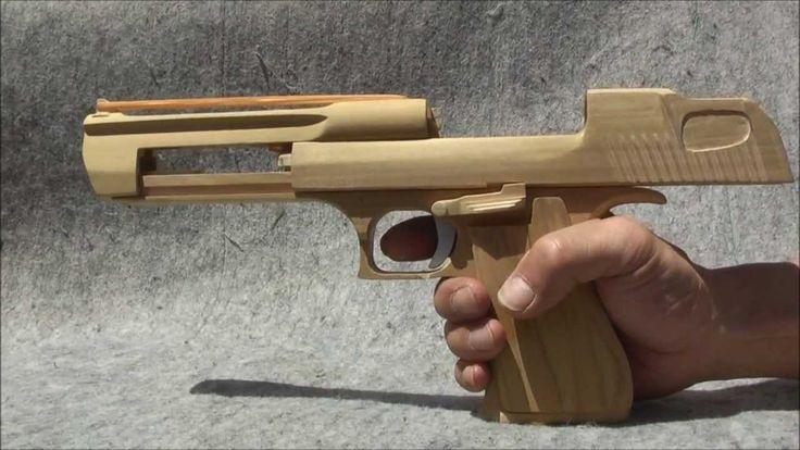 BLOW⇔BACK RUBBER BAND GUN 04.1 I.W.I DESERT EAGLE blowback mechanism is ...