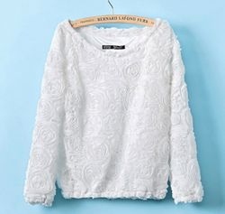 Rose Sweater - White