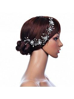 Pearl and Rhinestone Detailed Hair Flower - USD $12.99