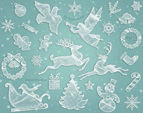"Merry #Christmas #Clipart #Xmas Clip Art ""Frosty Christmas""  This set contains 25 Christmas and New Year elements. Deer, snowflakes, snowmen, Christmas trees and other holiday... #etsy #digiworkshop #scrapbooking #illustration #creative #clipart #printables #crafting #ice #frozen #christmas #xmas"
