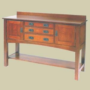 """Redux Antique Hardwood Sideboard Cabinets – 56"""" wide Heritage Mission Sideboard Cabinet. Caringly hand-built & hand-finished by Mennonite & Amish craftsmen. Available in premium Oak or Cherry hardwoods and a full range of durable finish colors. Find the Heritage Mission Sideboard Cabinet at http://www.mennonite-furniture-studios.com/Amish-Heritage-Mission-Sideboard-Cabinet,-56-inch/"""