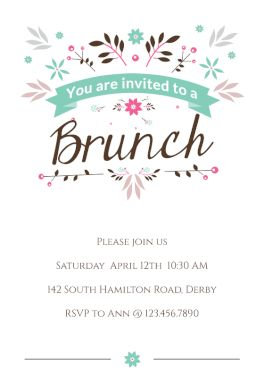 146 best party invitation templates images on pinterest order flat floral printable invitation template customize add text and photos print download stopboris Gallery
