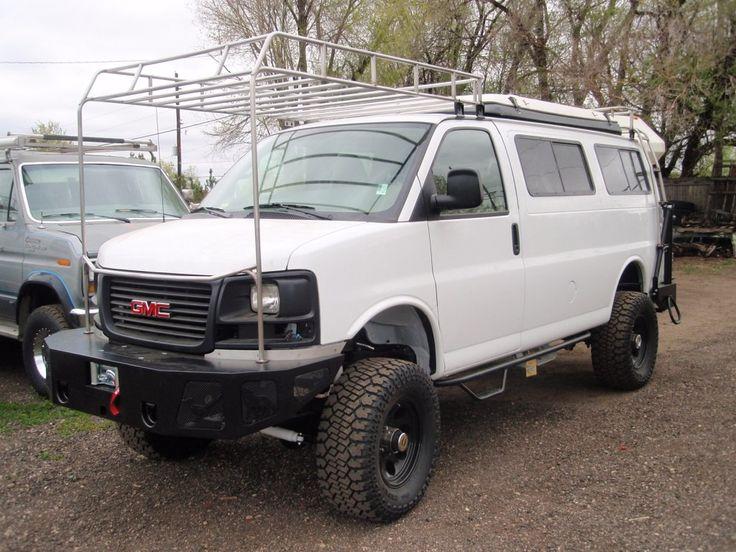 GMC Front roof rack Custom vans, Vans