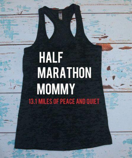 Burnout Tank. Workout Tank. Half Marathon by strongconfidentYOU, $21.00