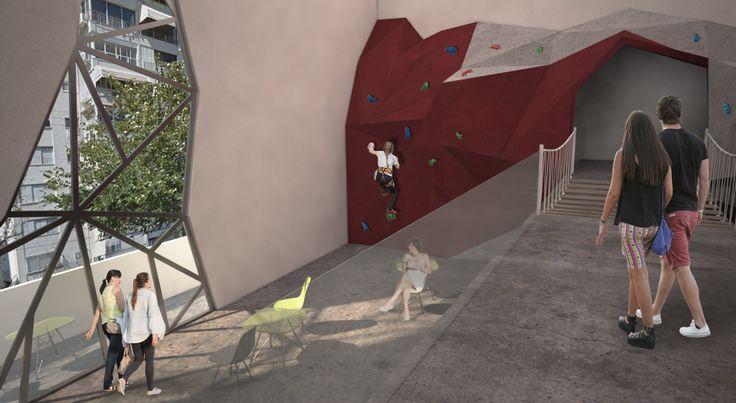 DEKEL commercial center proposal, Bavli district, Tel Aviv, Israel. Anna Kislitsina student project - 3rd year Shenkar College Interior, Building and Environment Design