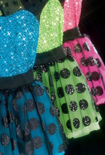Get recital ready with flashy sequins and bold polka dots: