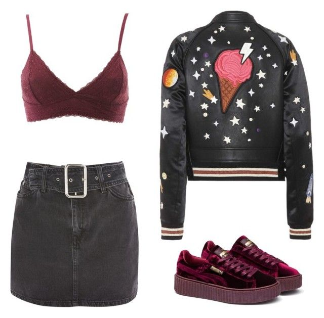 """""""Four for Fashion. #FFF05"""" by afifahafifa on Polyvore featuring Charlotte Russe, Coach, Topshop, Puma and girl"""