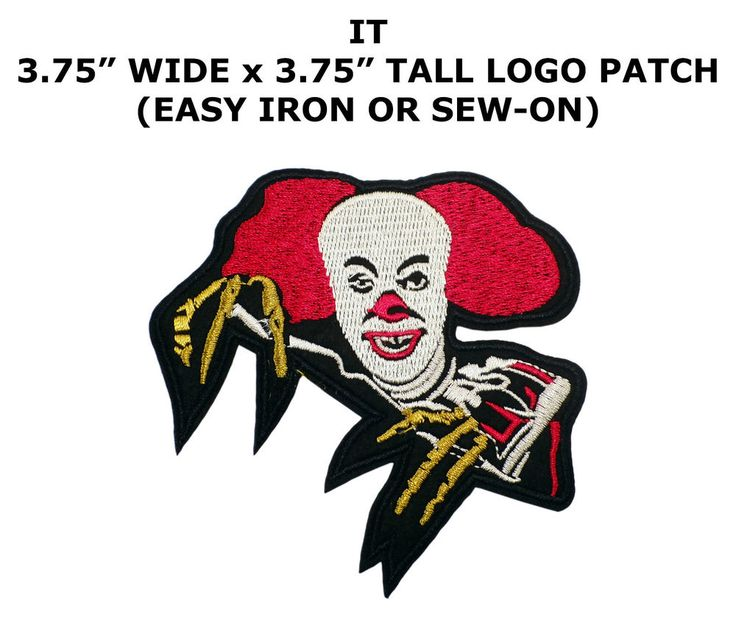 IT Embroidered Patch Horror Movie Pennywise the Dancing Clown Stephen King  | eBay