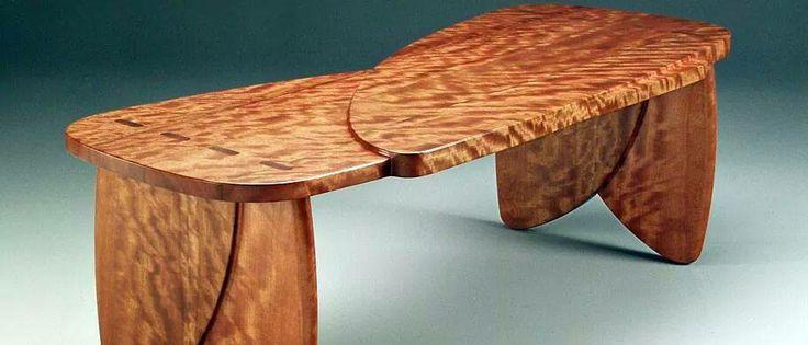 Bee's wing Eucalyptus table by Howard Hatch