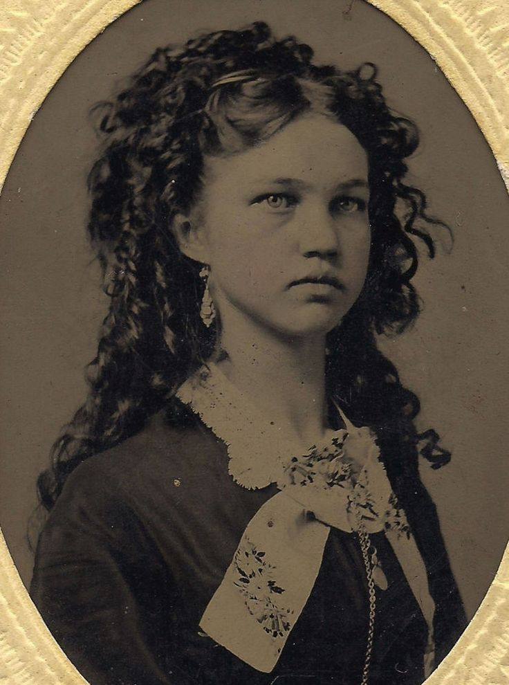 OLD VINTAGE ANTIQUE TINTYPE PHOTO of EXTREMELY BEAUTIFUL YOUNG TEEN GIRL w/ LOVELY HAIR  | eBay