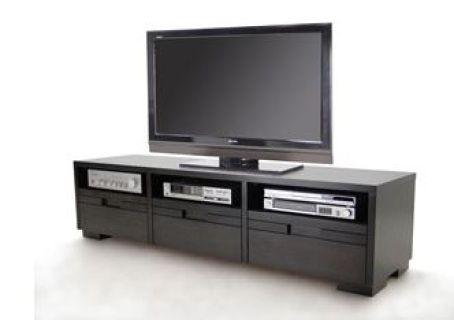 """Simple and Elegant, the Marino Entertainment Unit offers three shelves for storage of electronics, as well as three drawers for additional storage. The top also slides to extend and create a larger unit with a more striking profile, or can be left as is shown here. Available in a variety of finishes.  Dimensions59""""-104"""" x 19"""" x 21 3/4"""""""