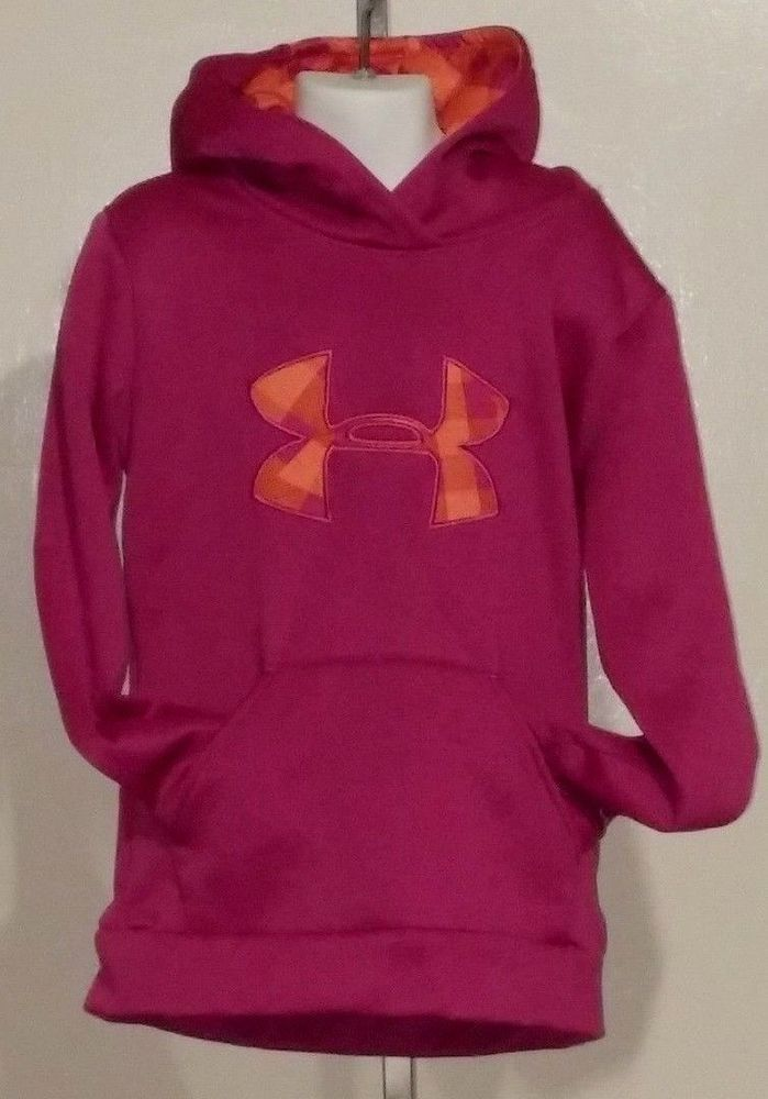 Girls Under Armour Youth XS Hoodie Underarmour Pink organge #UnderArmour #Hoodie #girls #athleticwear #pink #orange #forsale