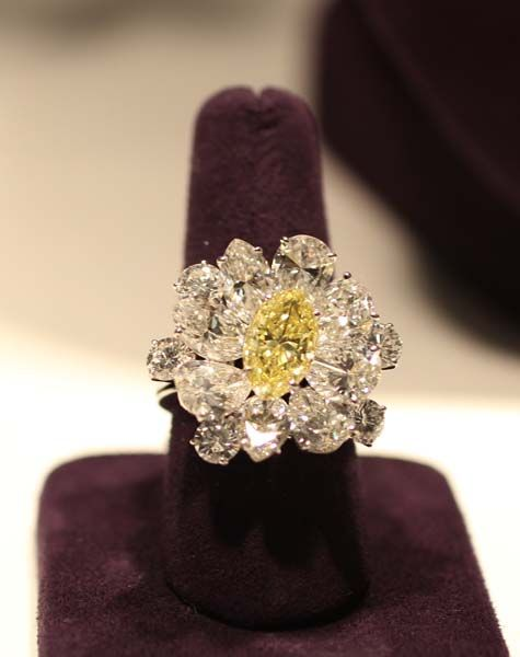 This BVLGARI yellow diamond ring is expected to fetch between $120,000-180,000 at auction.