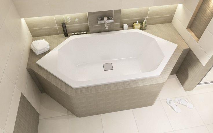 Sechseckige Badewanne Sanplast W6K/SPACE 190x90 cm - Sechseck Badewannen - Badewannen - Bad & Küche | Bestshop24.eu