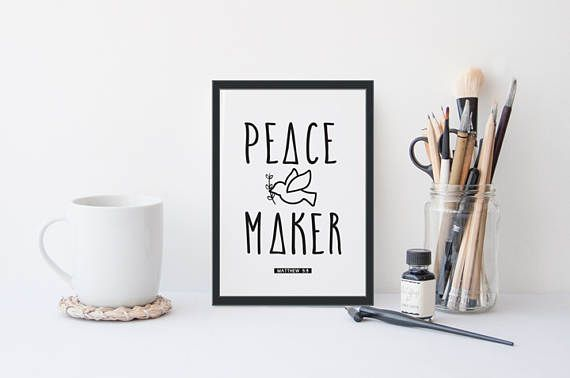 Peace Maker A4 Print Good News Modern Art Printable Art