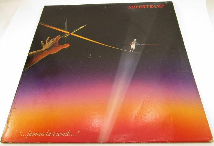 1982 SuperTramp Famous Last Words LP Vinyl Record Album SP-3732 A & M Records #RocknRollClassicRock