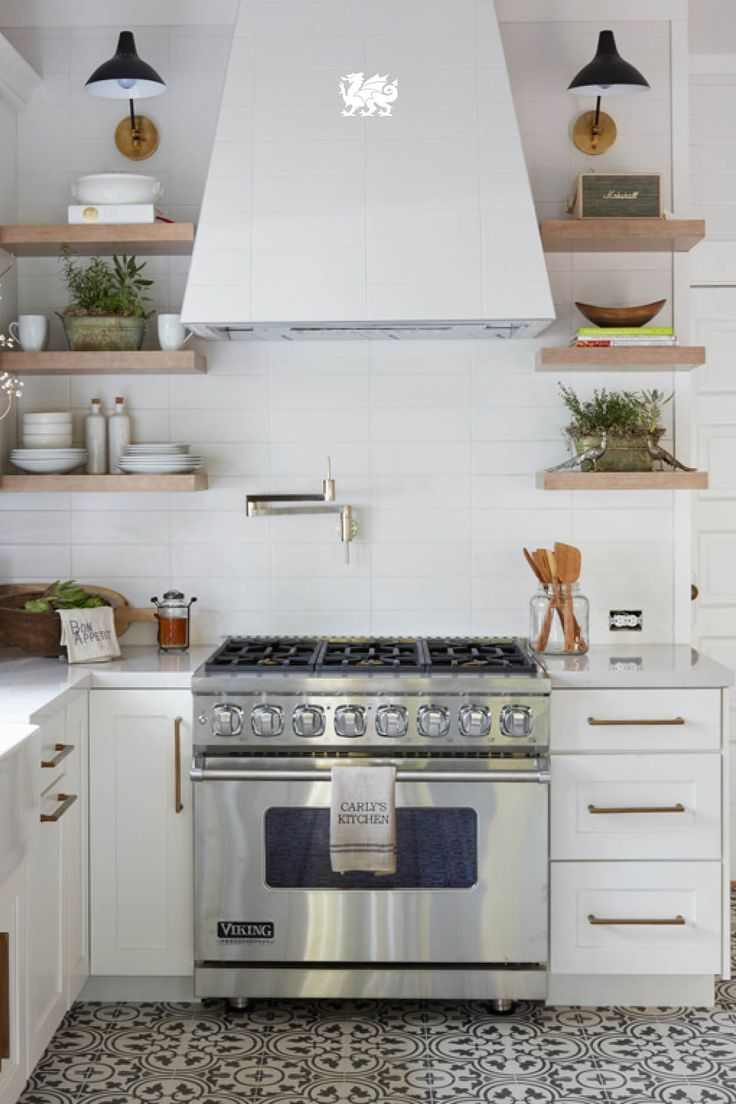 2860 best kitchen details images on pinterest dream kitchens we love the look of mixed metals enhanced by fresh neutral tones and open shelving in