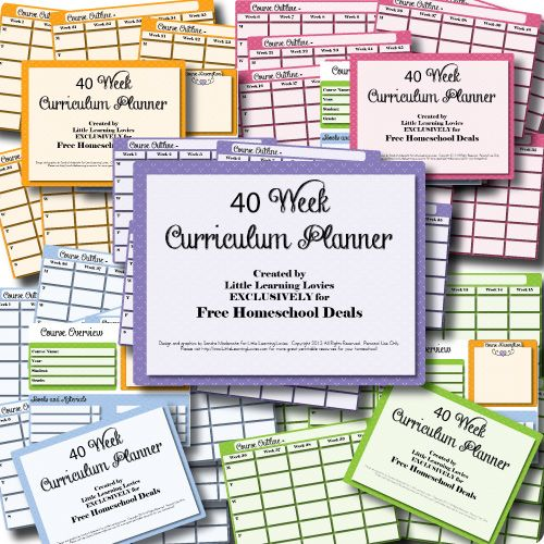 Free 40 Week Homeschool Curriculum Planner - Subscriber Freebie | Free Homeschool Deals