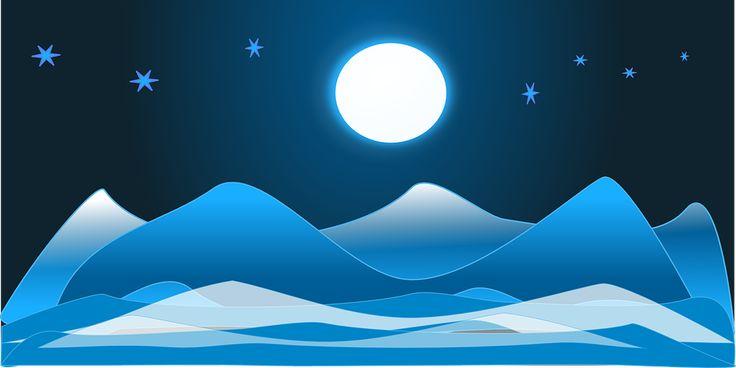 Arctic, Nightsky, Pełnia Księżyca, Lód, Krajobraz