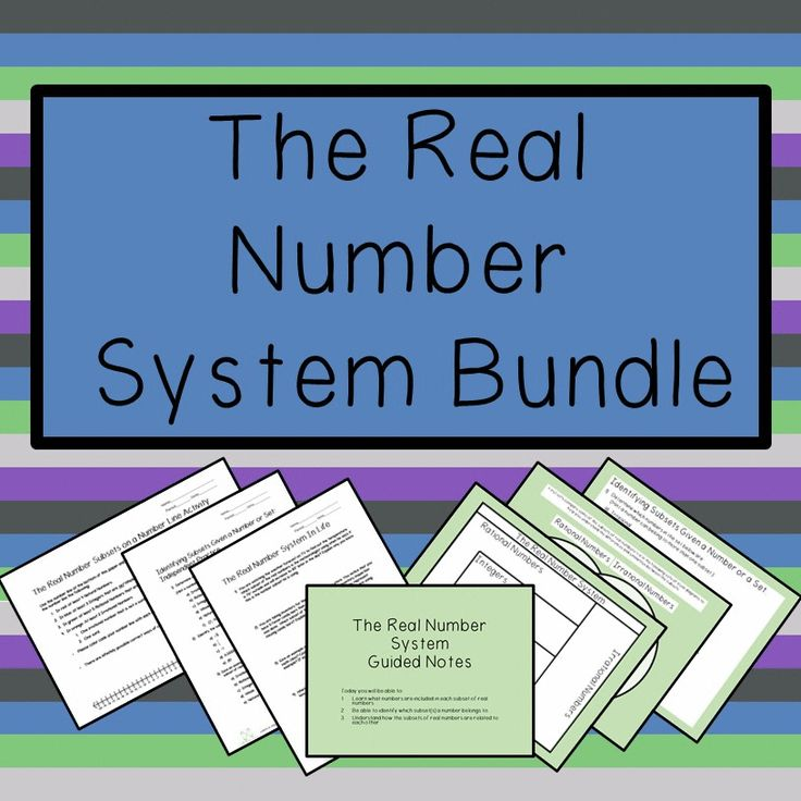 This bundle includes the Subsets of Real Numbers Presentation which is a Power Point slideshow and PDF guided notes for students, as well as the The Real Number System Practice which includes three activities that help students practice using, identifying, and relating examples of the real number system to real life.