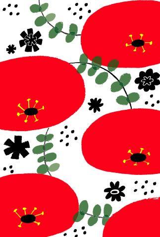 花 イラスト - Illustrator Chiharu Utsumi