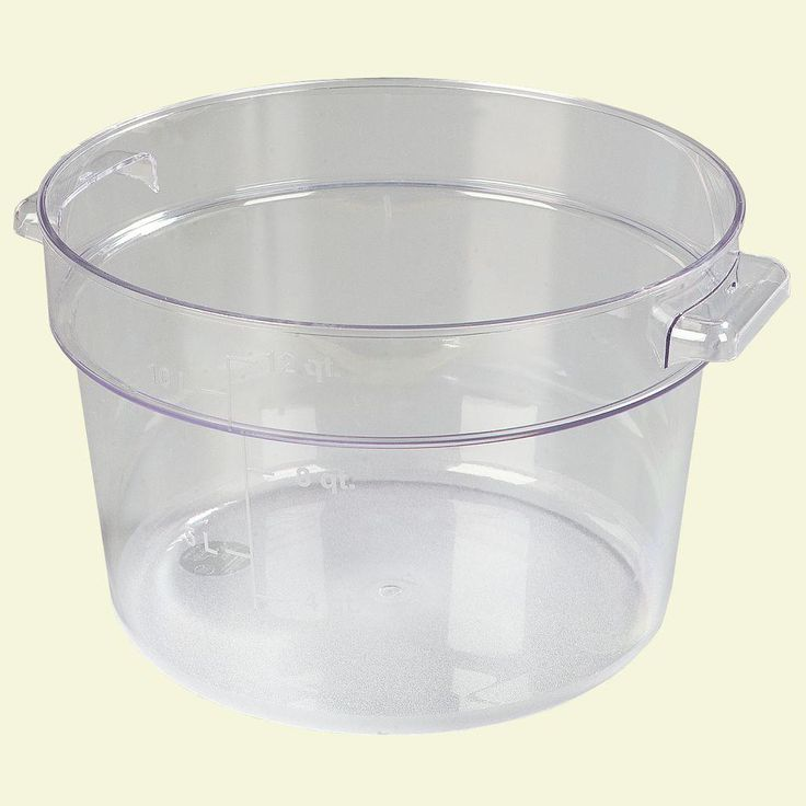 Carlisle 12 Qt Polycarbonate Round Storage Container In Clear Case Of 6 Plastic Container Storage Storage Containers Storage