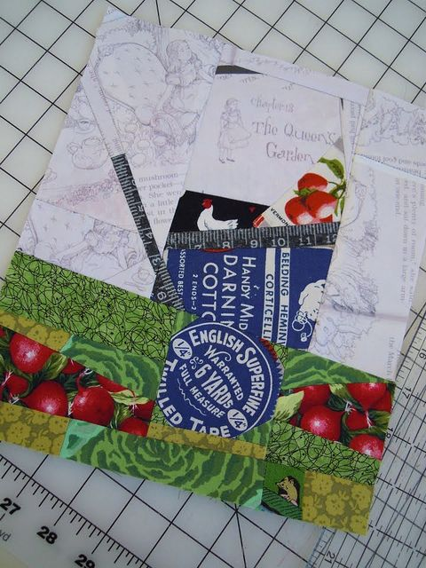 Paper Pieced Pattern-A-Day Garden Party Blog Hop, Day 27: Garden Cart by Denise Johanneson.